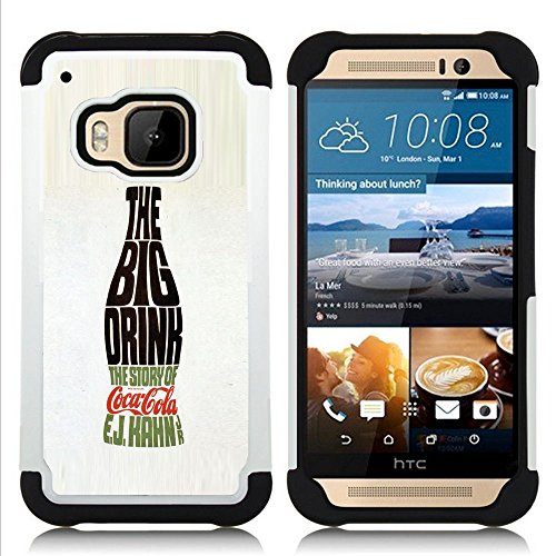 Jordan Colourful Shop - Big Drink Bottle Soda Pop Calligraphy For HTC ONE M9 - < Full-body 3 IN 1 [TPU&PC] Combo Bumper Case > - (P H Soda compare prices)