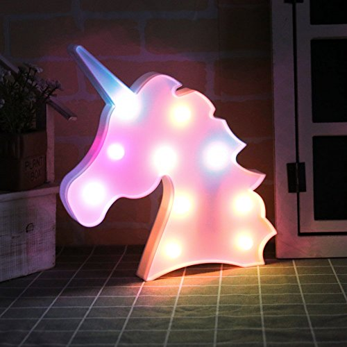 Light Up Kitchen Signs: UNICORN LED Night Light Lamp Kids Marquee Letter Lights