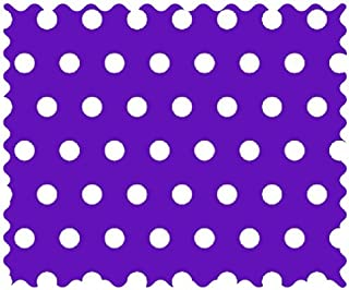product image for SheetWorld 100% Cotton Percale Fabric by The Yard, Polka Dots Purple, 36 x 44
