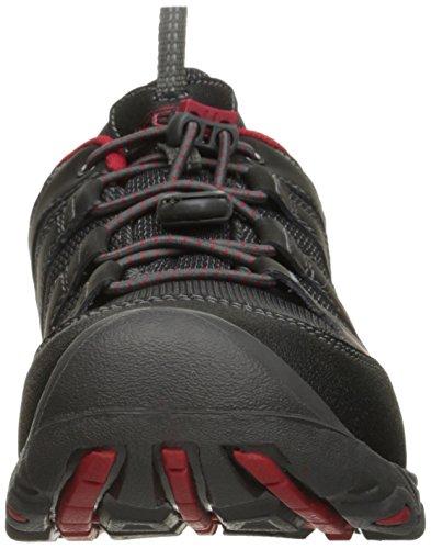 Keen Oakridge Wp, Zapatos de Low Rise Senderismo Unisex Niños Black/Tango Red