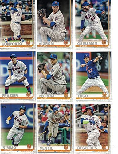 New York Mets/Complete 2019 Topps Series 1 Baseball Team Set! (10 Cards) Includes 25 bonus Mets Cards!