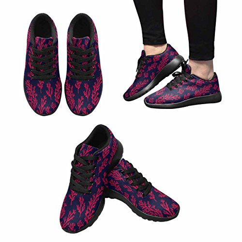InterestPrint Womens Trail Running Shoes Jogging Lightweight Sports Walking Athletic Sneakers Cute Naive Corals Fashion Gentle Coral Multi 1 2MKmobR