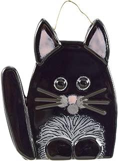 product image for Modern Artisans Whimsical Cat Fused Glass Sun Catcher, Handmade in USA (Black)