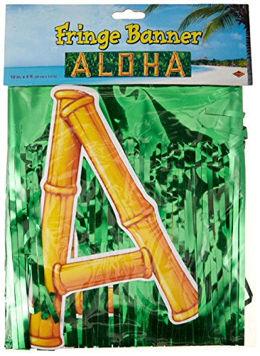 Metallic Aloha Banner Party Accessory (1 count)