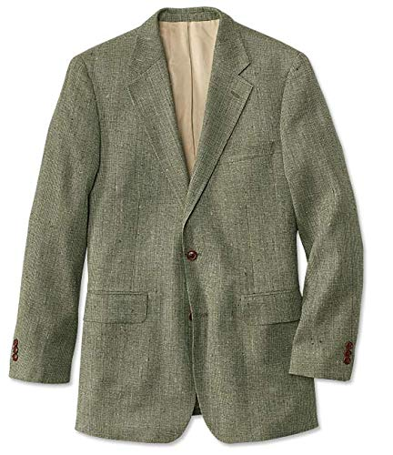 Orvis Silk Tweed Sport Coat/Regular, Sage, 44 ()