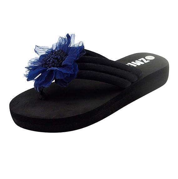 ... Cuña Chanclas Playa Chica Bownot Antideslizante Casual Cómodo Sandalias de Vestir Mujer Tacon Zapatillas de Estar por casa: Amazon.es: Ropa y accesorios