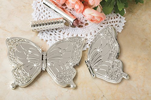 Double Mirrored Compacts - Butterfly Shaped Double Mirror Folding Compact Butterfly Compact