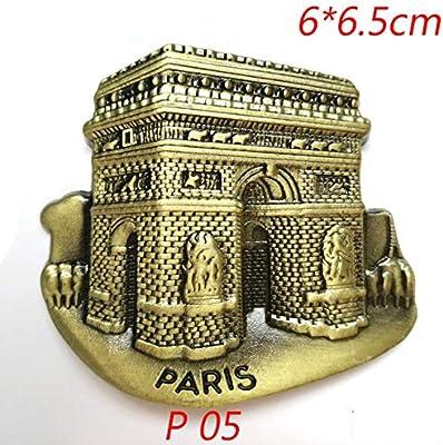 FUYIO 3 Piezas 3D Torre de París imán de Nevera Modelo de Edificio ...
