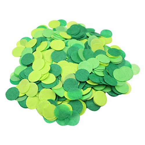 (Mybbshower Green Paper Confetti Birthday Party Decorations Spring Wedding 1 inch 5000)