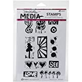 Ranger Dina Wakley Media Cling Stamps 6 by 9-Inch, Primitive Icons by Ranger Products