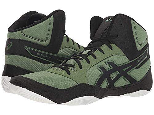 hot-selling real attractive style outlet on sale ASICS Men's Snapdown 2 Wrestling Shoe, Cedar Green/Black, Size 10.5