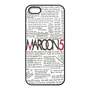 Maroon 5 Pattern Design Solid Rubber Customized Cover Case for iPhone 4 4s 4s-linda400 hjbrhga1544