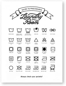 Canvas Wall Art Laundry Room Decor Laundry Symbols Sign Wall Art Canvas Painting Laundry Guide To Procedures Poster And Print Wall Picture