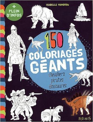 Coloriage Geant Chevalier.150 Coloriages Geants Chevaliers Pirates Dinosaures Amazon Fr