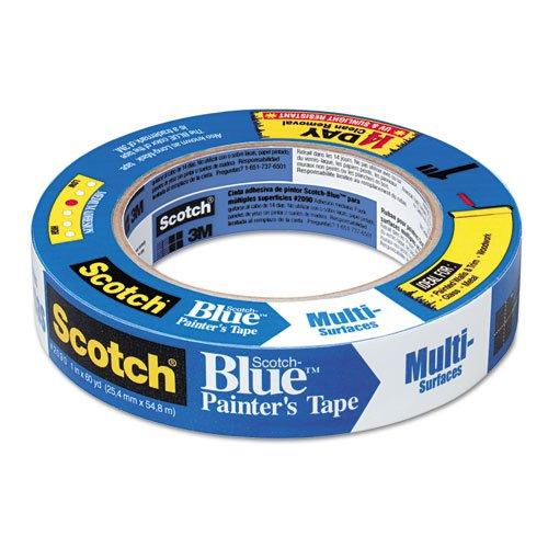 ScotchBlue 20901A4X Painters Masking Tape, 60 yd Length x 1'' Width, 5.4 mils thick, Blue (Pack of 4) by Scotch