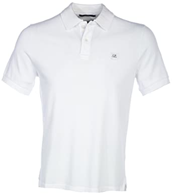 C P Cp Company Polo Shirt Basic In White Amazon De Bekleidung