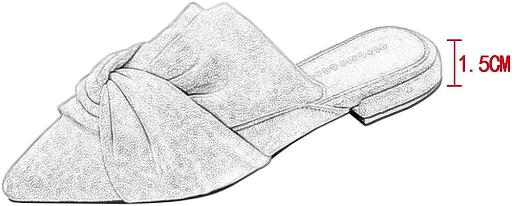 Punta a Punta Pantofole Pelle Scamosciata Mocassino Vacanze Casual Piatte Senza Schienale Scarpe Pigre Yudesun Scarpe da Donna Pantofole Le Scarpe Sono pi/ù Piccole