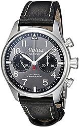 Alpina Men's AL-860GB4S6 Startimer Pilot Analog Display Automatic Self Wind Black Watch