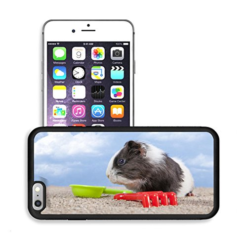 Luxlady Premium Apple iPhone 6 Plus iPhone 6S Plus Aluminum Backplate Bumper Snap Case IMAGE 20271053 guinea pig playing in the sand with a rake and shovel of colors the sky