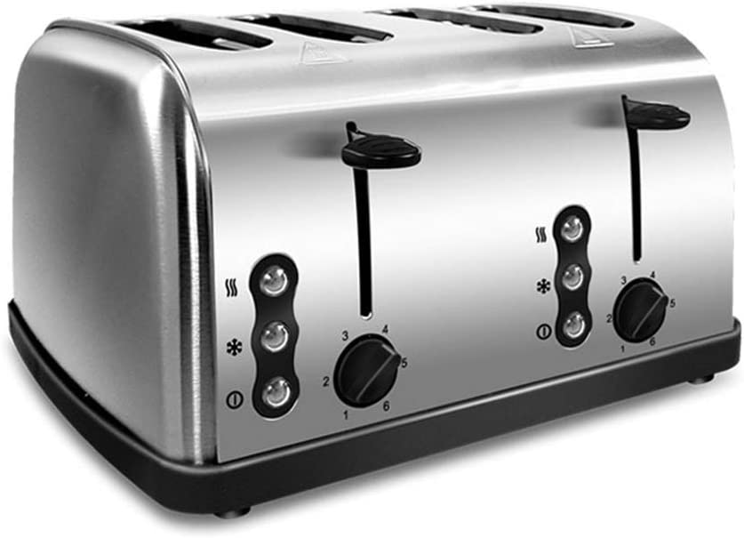 Toaster 4 Slice, Retro Small Toaster,Cancel, Defrost Function, Extra Wide Slot Compact Stainless Steel Toasters for Bread Waffles, Ideal Gift for Family & Friends