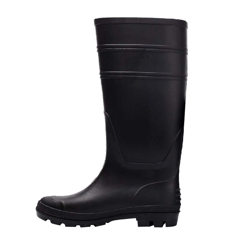 Bota de Agua Alta Negra, Hombres Amortiguador Desgaste Resistente al envejecimiento-Resistente y Antideslizante Zapatos Botas