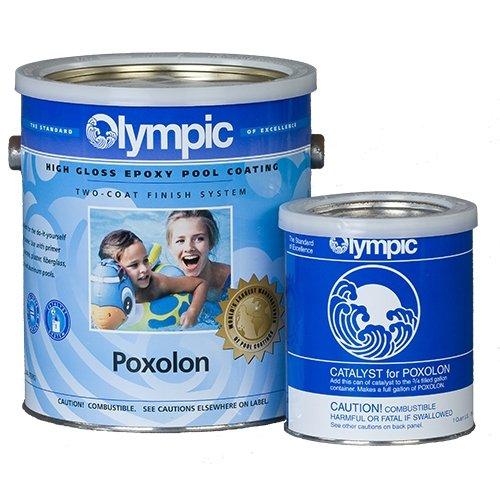 - Olympic Poxolon Epoxy Pool Paint, 1 Gallon, White