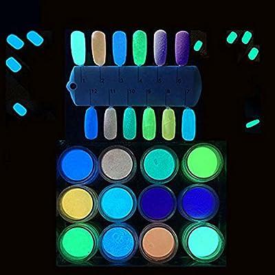 MEILINDS Nail Art Glitter Magic Temperature Change Color Powder Summer Manicure Pigment Dust 12 Colors