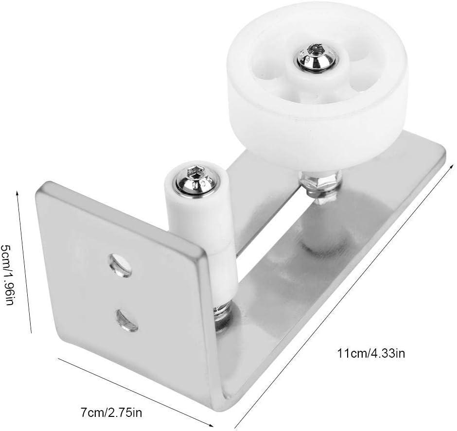 Sliding Iron Roller Guide Silver for Doors for Floor Stay Roller Floor Guide
