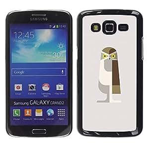 Paccase / SLIM PC / Aliminium Casa Carcasa Funda Case Cover para - Owl Brown Polygon Beige Bird Art - Samsung Galaxy Grand 2 SM-G7102 SM-G7105