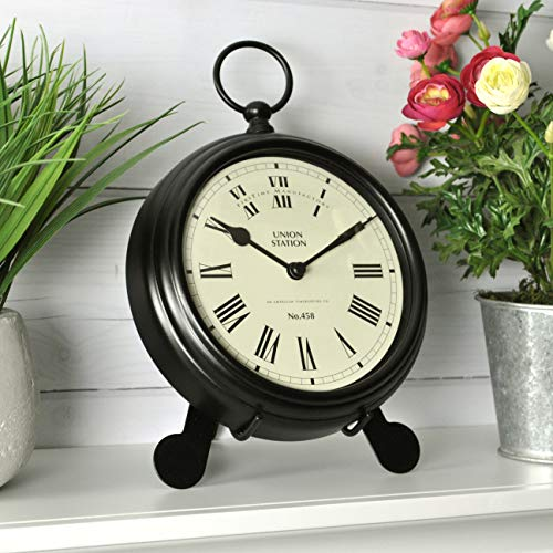 FirsTime Co. 10025 Station Pocket Wall Clock, 9 W x 2 D x 7 H, Black