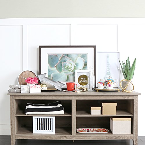 New 58'' Modern Tv Console Stand – Driftwood Finish by Home Accent Furnishings