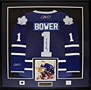 Johnny Bower Toronto Maple Leafs Signed Jersey Hockey Collector Frame