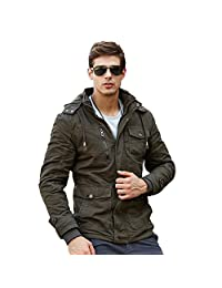 URBANFIND Men's Hooded Fleece Winter Coat Classic Fashion Cotton Jacket