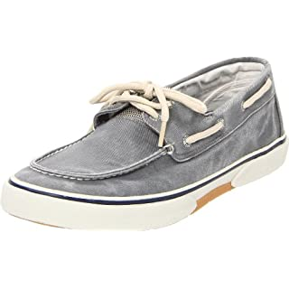 Sperry Mens Halyard 2-Eye Sneaker, SW Grey, 10
