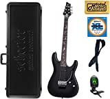 Schecter Damien Platinum 6 Floyd Rose Electric Guitar, Satin Black, 1183,Case Bundle, 1183
