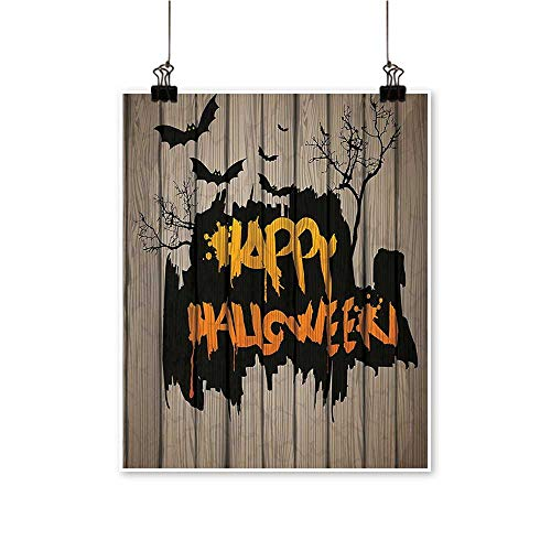 Canvas Wall Art for Bedroom Home Happy Halloween Graffiti Style Lettering on Rustic Wooden Fence Scary Evil Effect Art Canvas Art Posters Prints,28