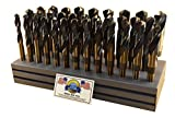 Drill Hog USA Silver & Deming Drill Bit Set Index 33 Pc 1/2-1''