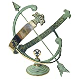 "Rome Industries RM1336 Polished Brass 18"" Diameter Armillary Sundial"
