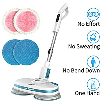Image of Health and Household BOBOT Prince Cordless Electric Mop with LED Lighting, Adjustable-Height, Water Spray on Demand, Removable Battery, High-Speed Brushless Motor Work for You,1 Year Warranty, Gifts for Family and Friend