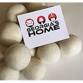 Super Soft 100% Wool Dryer Balls 6-Pack XL Premium Reusable Natural Fabric Softener With Handmade Cotton Sack for Storage