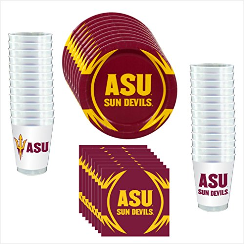 Arizona State University Party Supplies (Westrick Arizona State Sun Devils Party Pack - 81 Pieces (Serves)