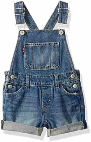 Kidscool Girls Classic Big Bib Ripped Holes Jeans Shortalls