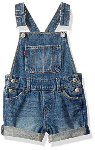 Levi's Big Girls' Denim Shortalls, Vintage Waters, (Denim Vintage Overalls)