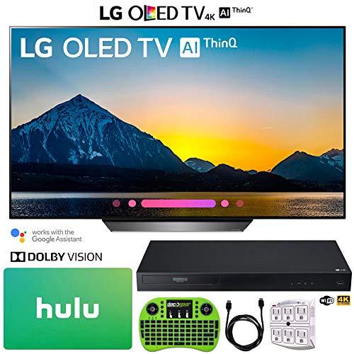 LG OLED65B8PUA 65″ Class B8 OLED 4K HDR AI Smart TV (2018) + LG UBK90 Streaming 4k Ultra-HD Blu-Ray Player w/Dolby Vision + Hulu $100 Gift Card + More