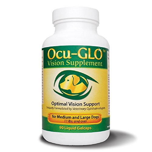 Ocu-GLO Vision Supplement for Med/Lg Dogs, Animal Necessity - Lutein, Omega-3 Fatty Acids, Grapeseed Extract Support Optimal Eye Health & Vision in Dogs - Antioxidants for Canine Ocular Health - 90ct