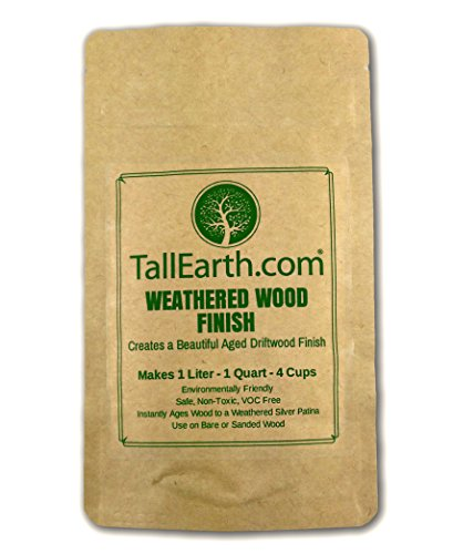 WEATHERED WOOD FINISH - NON-TOXIC STAIN - Aged Driftwood Furniture & Craft Stain by Tall Earth