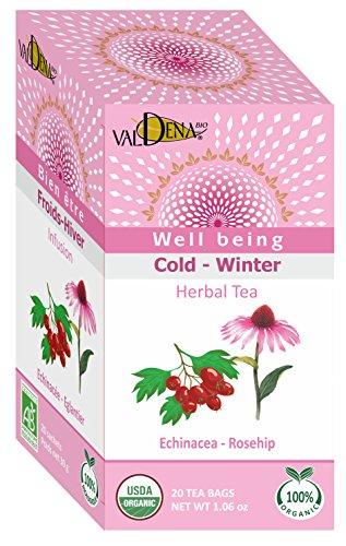 Valdena Organic Echinacea Rosehip Infusion Tea, 195 Gram For Sale
