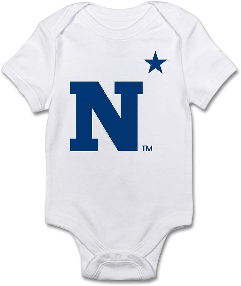 CafePress U.S Naval Academy N Cute Infant Bodysuit Baby Romper Cloud White