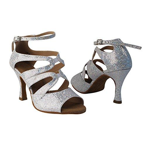 Chaussures De Pigeon Dor Party Party Chaussures De Mariage, Chaussures De Soirée De Confort: Talons Femmes Chaussures De Danse De Salon 7039- Échelle Dargent