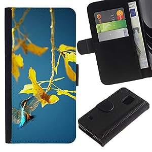 All Phone Most Case / Oferta Especial Cáscara Funda de cuero Monedero Cubierta de proteccion Caso / Wallet Case for Samsung Galaxy S5 V SM-G900 // Spring plant